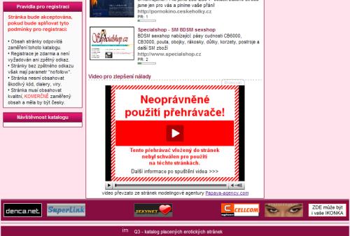 Ilustrace: Náhled na stránku obsazenou červenobílým obdélníkem