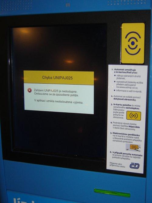 Zablokovaný automat UNIPAJ.